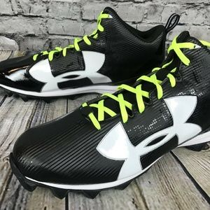 NEW UA Under Armour Crusher RM Football Cleats Bla